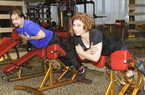 Роза Сябитова на тренировке