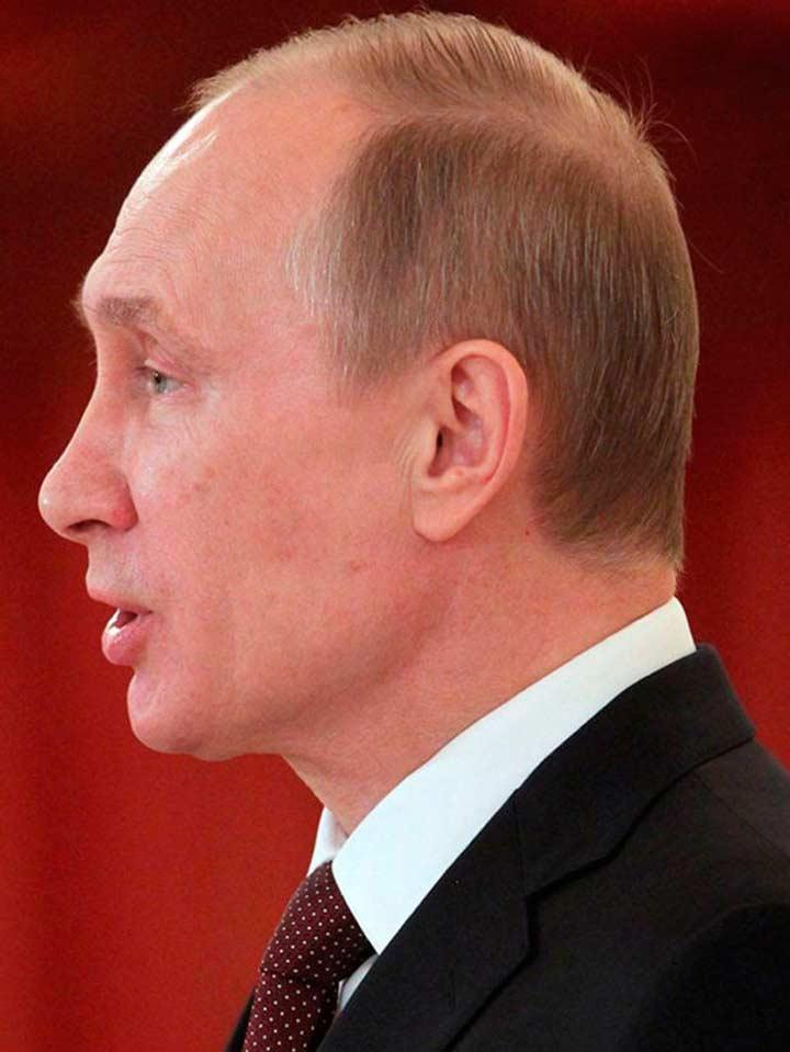 Путин - фото в профиль