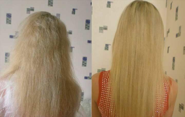 Результат биопластики волос