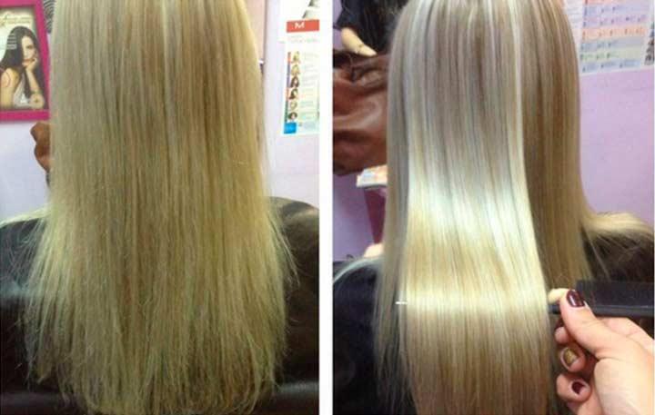 После биопластики волос