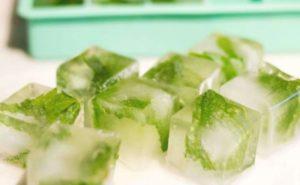 Кубики из зеленого чая
