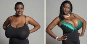 Негритянка с большой грудью
