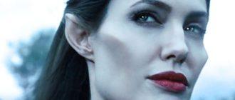 Скулы актрисы Джоли
