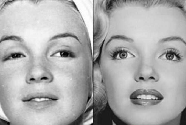 Мерлин Монро до и после