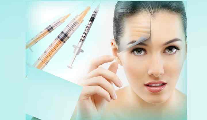 Для разглаживания морщинистой кожи на лбу применяют:крема с коллагеном или эффектом ботокса